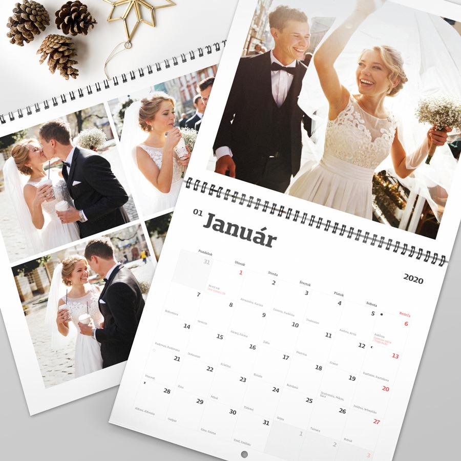 Exkluzívny nástenný kalendár - dvojdielny