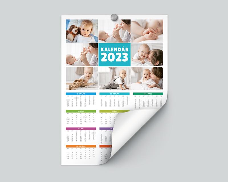 Ročný nástenný kalendár - na výšku